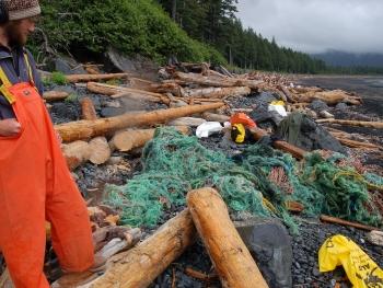 Marine Debris on an Alaskan Beach