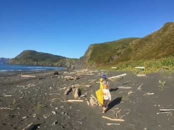 Cleaning up shorelines on Kodiak Island is often a family affair, engaging community members of all ages.