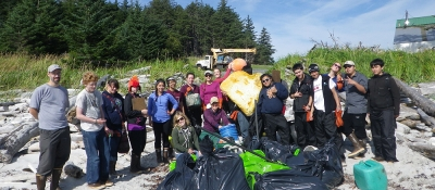 Cleanups led by the Sitka Sound Science Center.