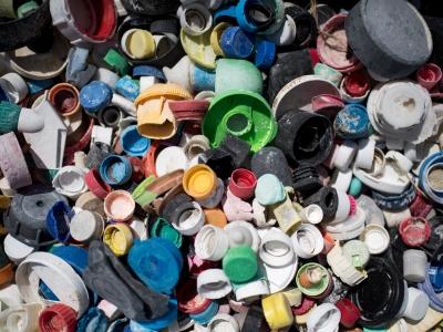 Plastic bottle caps.