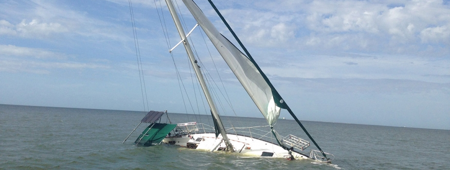 The sailboat San Leon sunk in Texas waters