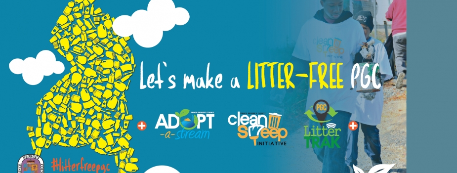 Infographic saying: Let's make a Litter-Free Prince George's County.