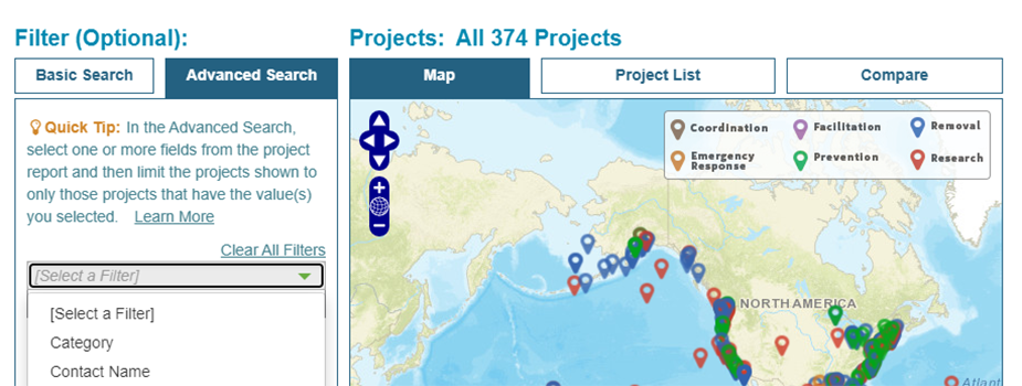 Explore information on the Marine Debris Clearinghouse.
