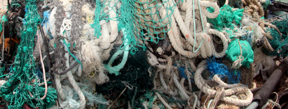 Derelict nets in a pile.