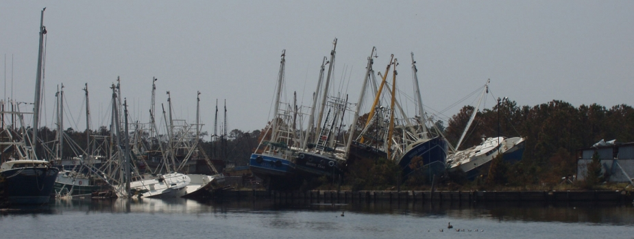 Damaged vessels in Alabama.