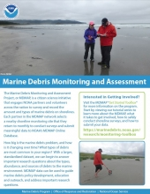 About the Marine Debris Monitoring and Assessment Project one-pager cover.