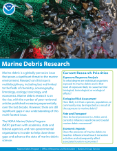 Marine debris research fact sheet cover.