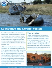 About Abandoned and Derelict Vessels fact sheet.