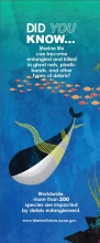 "Image of the entanglement bookmark in the ""Did You Know?"" marine debris bookmark series."