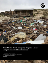 Cover of the Texas Marine Debris Emergency Response Guide.