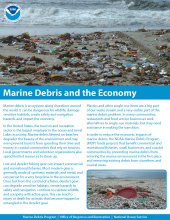 Cover of the marine debris and the economy fact sheet.