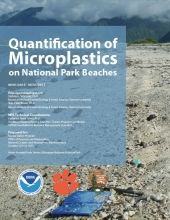 Quantification of Microplastics on National Park Beaches report cover.