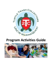 Cover of the Turtle Trash Collectors Program Activities Guide.