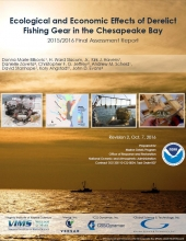 Cover of Ecological and Economic Effects of Derelict Fishing Gear in the Chesapeake Bay report.