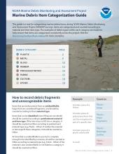 MDMAP Marine Debris Item Categorization Guide cover.