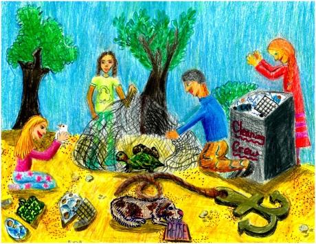 Artwork by Julia K. (Grade 5, Massachusetts)