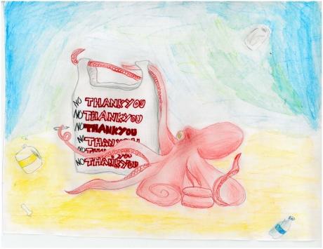 Artwork by Ava E. (Grade 6, California)
