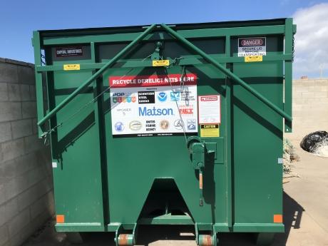 The Hawai'i Nets-to-Energy bin located at Pier 38 in Honolulu, Hawai'i .