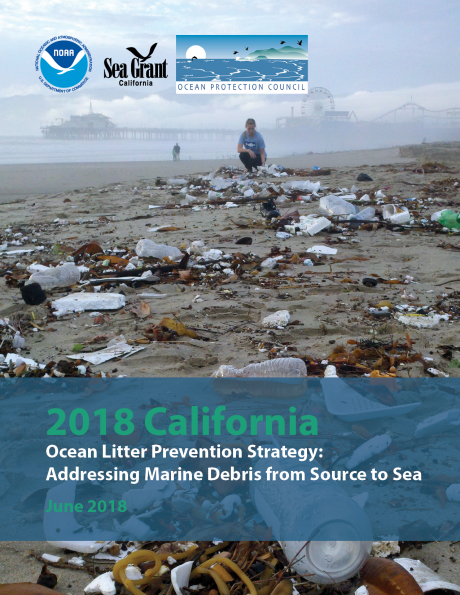 Cover of the 2018 California Ocean Litter Prevention Strategy.