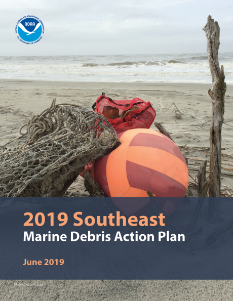 Cover of the 2019 Southeast Marine Debris Action Plan