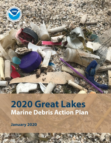 Cover of the Great Lakes Marine Debris Action Plan.