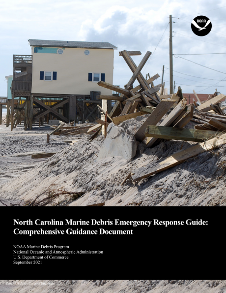 Cover of the North Carolina Marine Debris Emergency Response Guide Comprehensive Guidance Document.