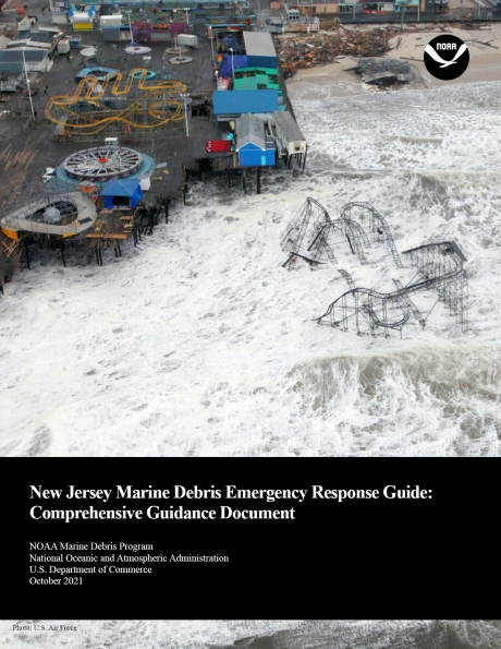 Cover of the New Jersey Marine Debris Emergency Response Guide.