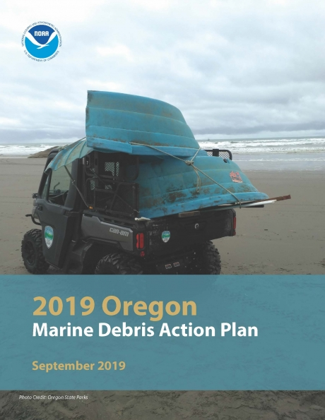 Cover of the Oregon Marine Debris Action Plan.
