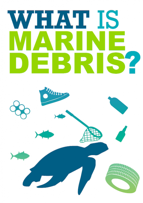 "Cover of ""What is Marine Debris?"" poster."