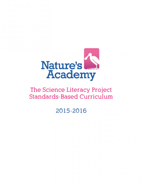 Cover of the Science Literacy Project Standards-Based Curriculum.