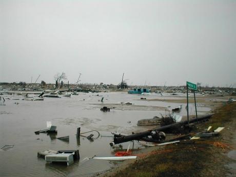 Debris from Hurricane Katrina