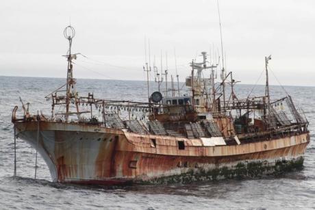 A 170-ft squid vessel named F/V RYOU-UN MARU found near Alaska in March 2012