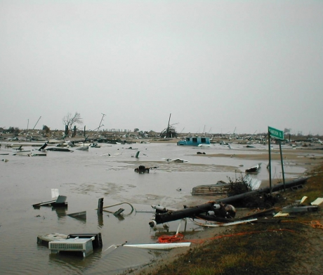 Debris from Hurricane Katrina