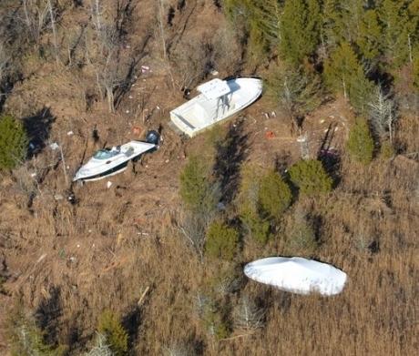 Sandy debris in E.B. Forsythe NWR