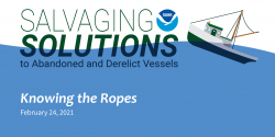 Title slide for the Salvaging Solution webinar episode Knowing the Ropes.