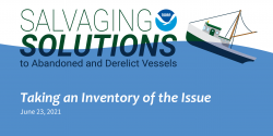 Title slide for the Salvaging Solution webinar episode Taking an Inventory of the Issue.