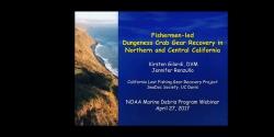 NOAA Marine Debris Program Removal Webinar, April 2017